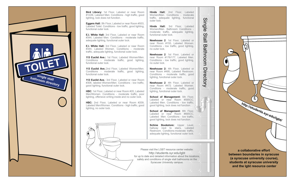 comfortable spaces Brochure [front, center, back].