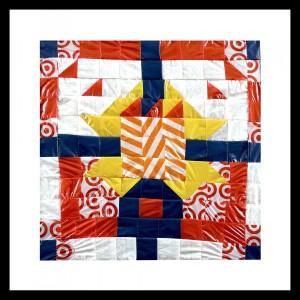 "consumption quilt #5 (Invader) 6"" x 16"""