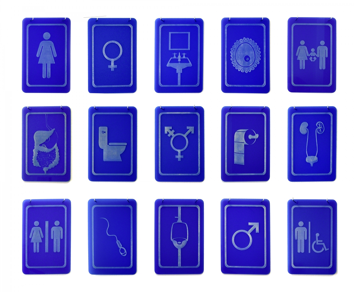 15 bathroom sign options.
