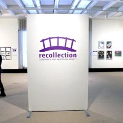 recollection logo is a purple bridge